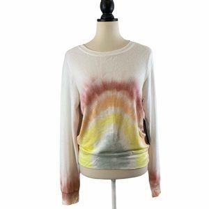 Wildfox Tie Dye Rainbow Sweater Top, Size XS